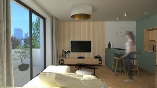 27-BÝVANIE NA MINIMÁLNEJ PLOCHE (36 m²)-Študentský koncept