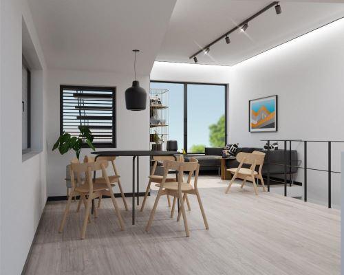 21-MESTSKÝ BYT PRE MILENIÁLOV (70 m²)-Študentský koncept