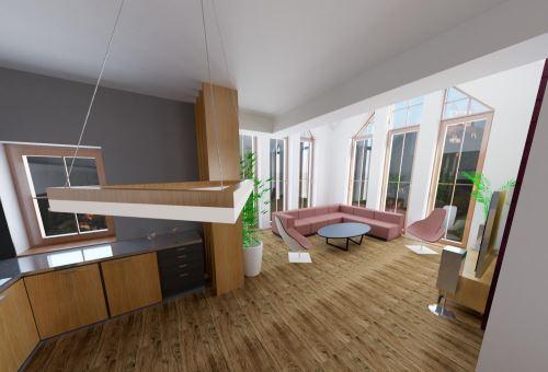 8-WALLYROOMS (49 m²)-Študentský koncept