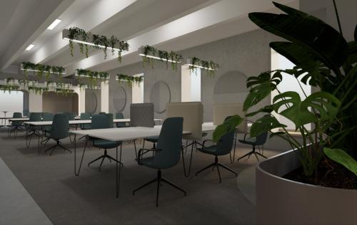 16-INTERIÉR OBCHODNÉHO DOMU LAMAČ (700 m²)-Študentský koncept